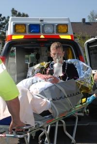 Patiënten die binnenkomen na een brand, worden eerst gecheckt op longschade.