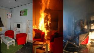 Brand is sneller dan de brandweer. Binnen 3 minuten overleef je deze brand in de doorsnee woonkamer door de vrijgekomen rook.