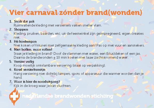 Checklist carnaval