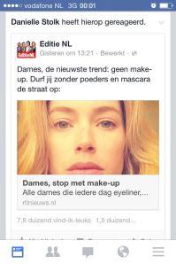 Doutzen Kroes is al fan van de #nomakeupday selfie