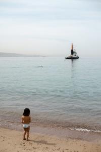 meisje zee